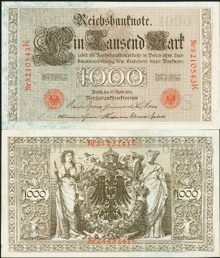 1000 mark  (60) VF Banknote