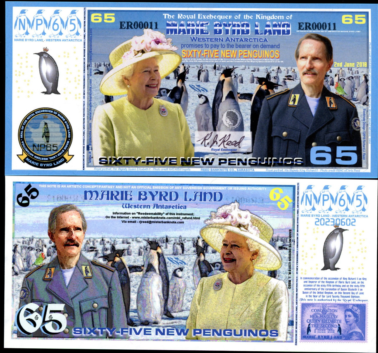 65 New Penguinos  (90) UNC Banknote