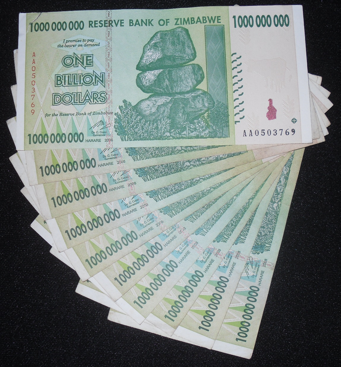 1,000,000,000 dollars  (50) F Banknote