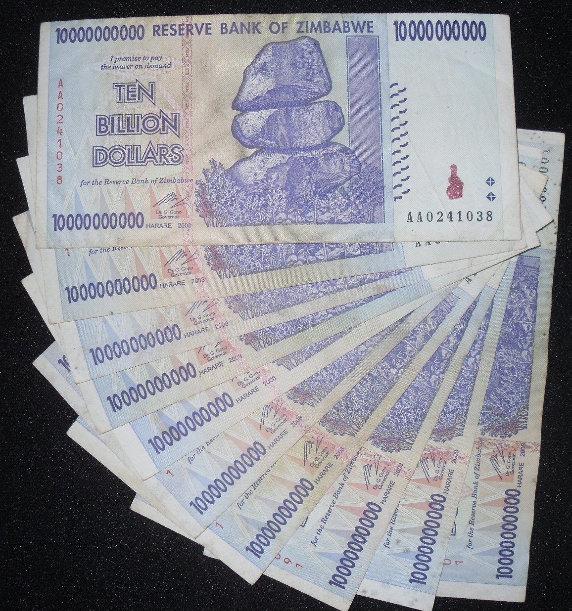 10,000,000,000 dollars  (50) F Banknote