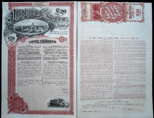 20 pounds  AU Stock Certificate