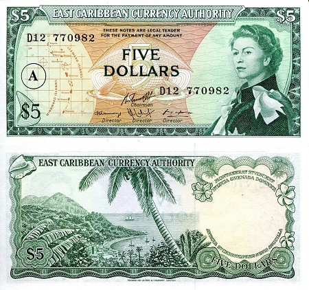 5 dollars  (50) F Banknote