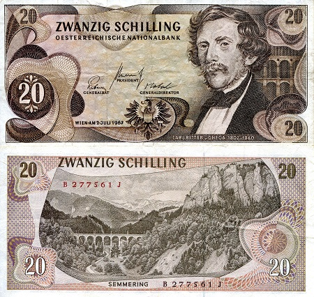 20 schilling  (40) VG Banknote