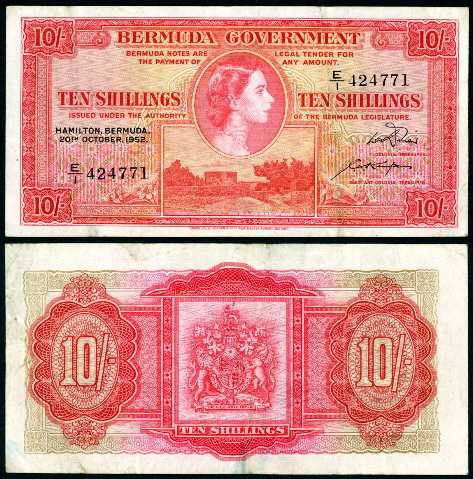 10 shillings  (55) F-VF Banknote