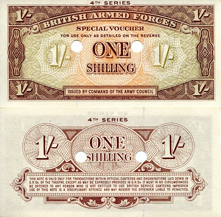 1 shilling  (90) UNC Banknote