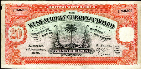 20 shillings  (55) F-VF Banknote