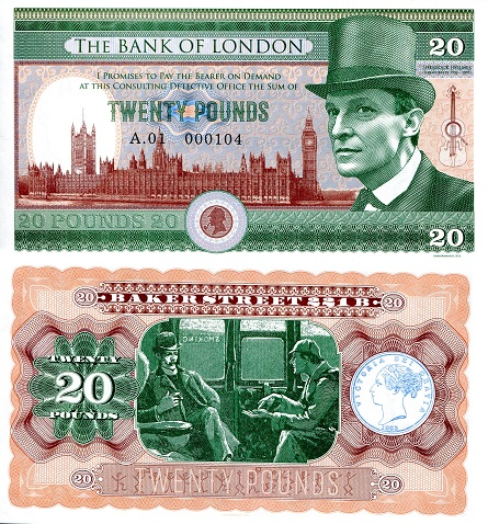 20 pounds  (90) UNC Banknote