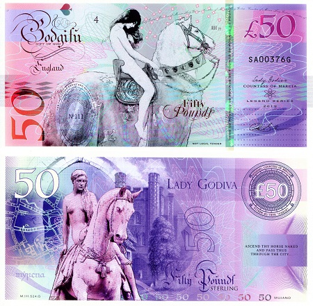50 pounds sterling  (90) UNC Banknote