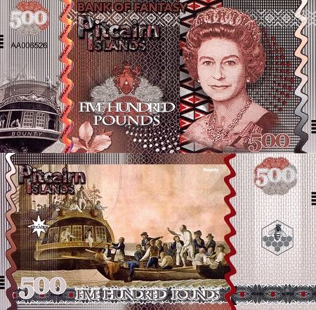 500 Pounds  (90) UNC Banknote