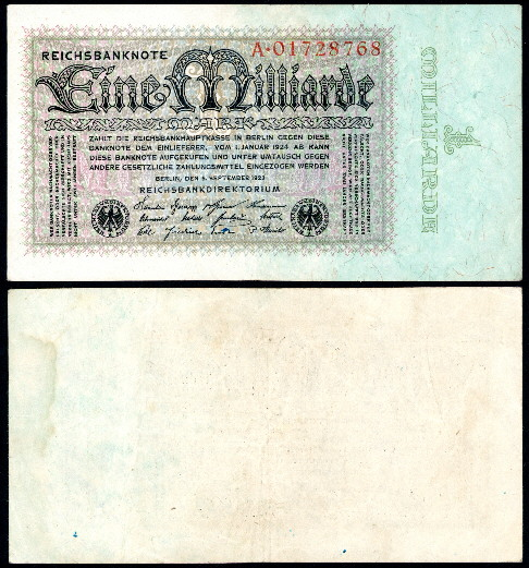 1 milliarde mark  (60) VF Banknote