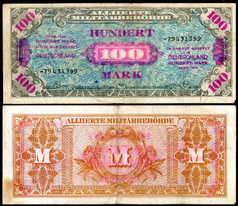 100 mark  (50) F Banknote
