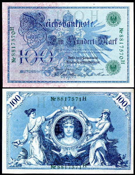 100 mark  (60) VF Banknote