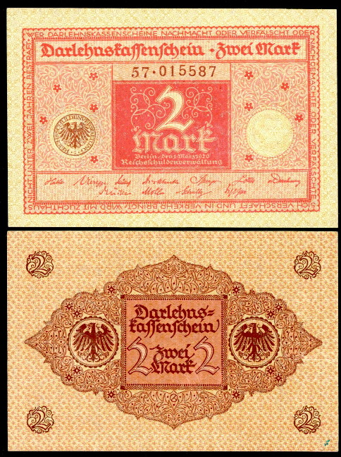 2 mark  (70) EF Banknote
