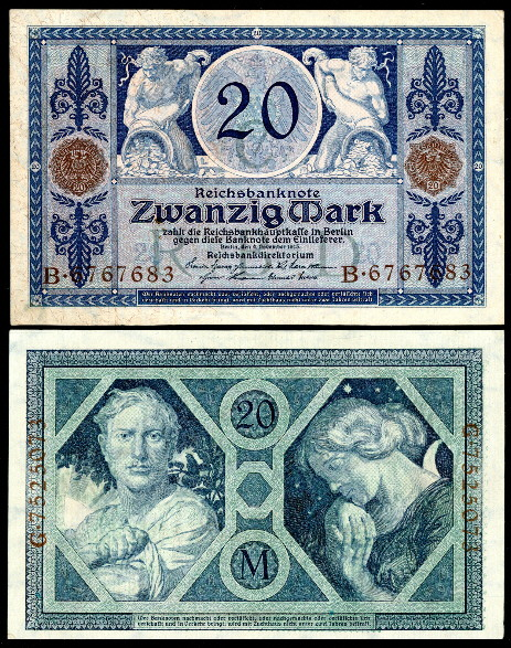 20 mark  (60) VF Banknote