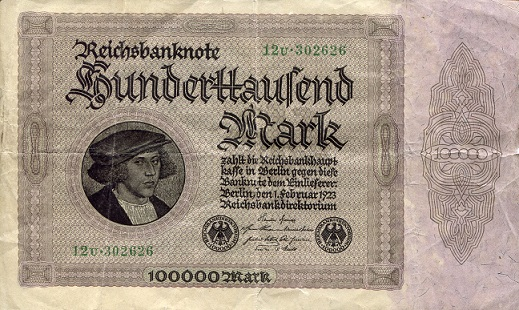 100,000 mark  F Banknote