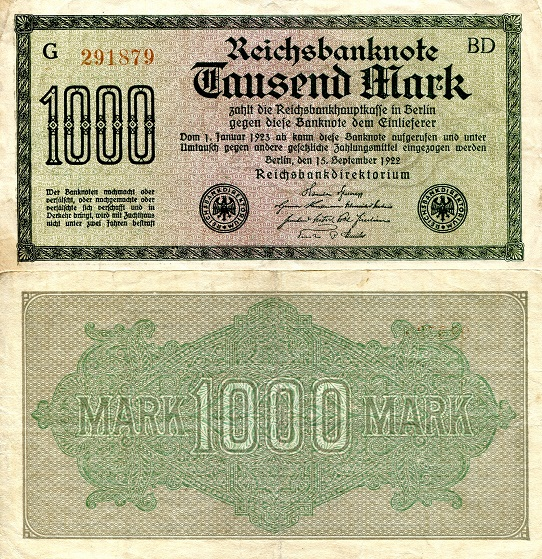 1,000 mark  (70) EF Banknote