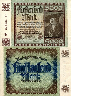 5,000 mark  F Banknote