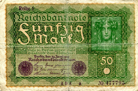 50 mark  (55) F-VF Banknote