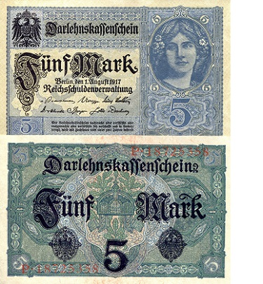 5 mark  (60) VF Banknote