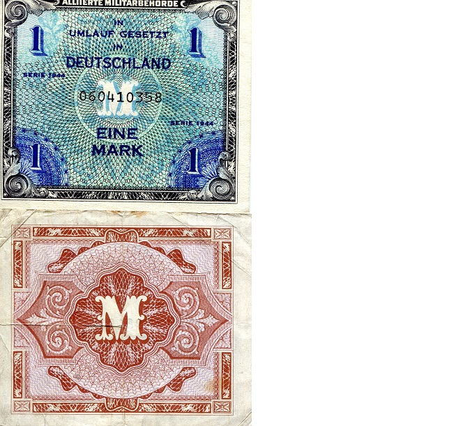 1 mark  (60) VF Banknote