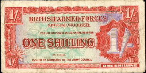 1 shilling  (50) F Banknote