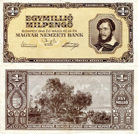 1,000,000 milpengo  (80) AU Banknote