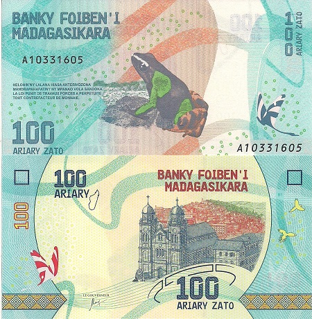 100 ariary  (90) UNC Banknote