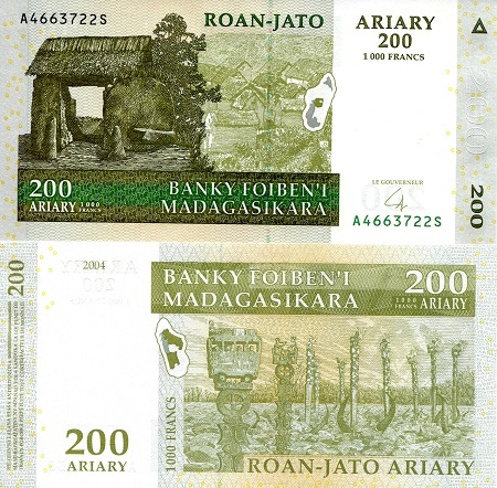 200 ariary  (90) UNC Banknote