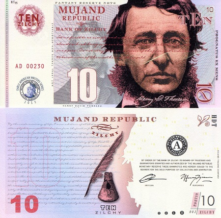 10 zilchy  UNC Banknote