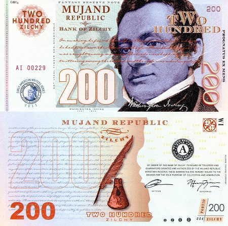 200 zilchy  UNC Banknote