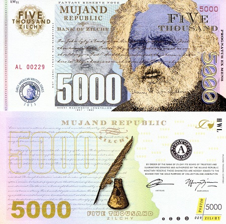 5000 zilchy  UNC Banknote