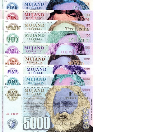 5-5000 zilchy  UNC Banknote