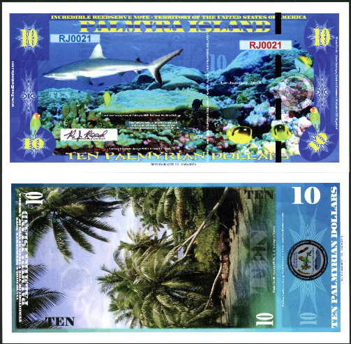 10 Palmyrian dollars  (90) UNC Banknote