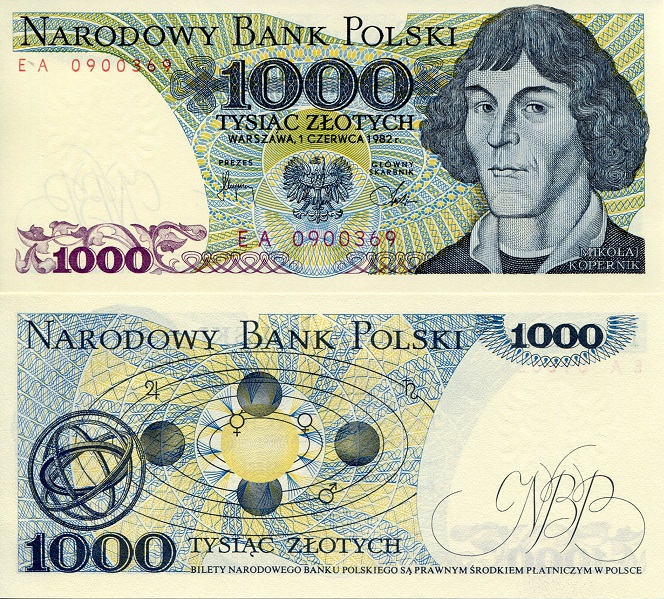 1000 zlotych  (90) UNC Banknote