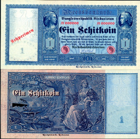 1 $chitkoin  (90) UNC Banknote