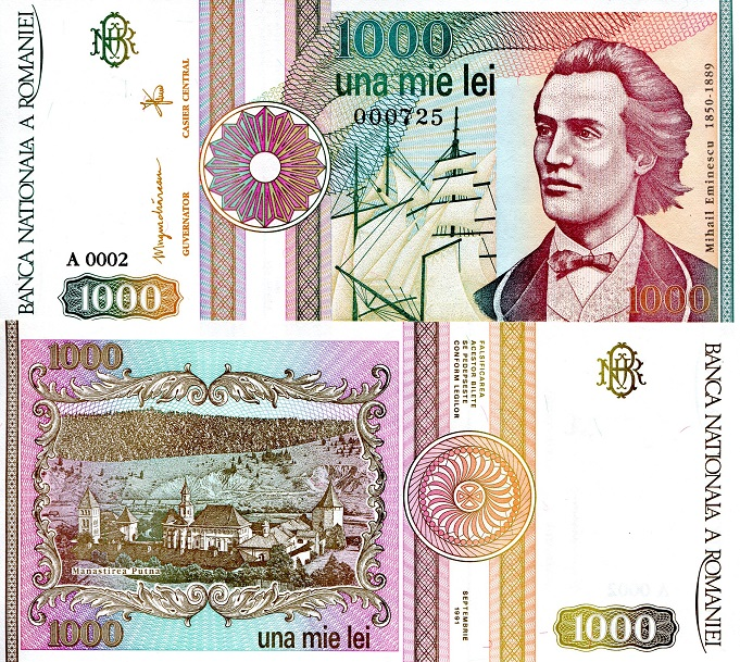 1000 lei  (90) UNC Banknote