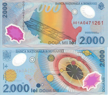 2000 lei  (90) UNC Banknote