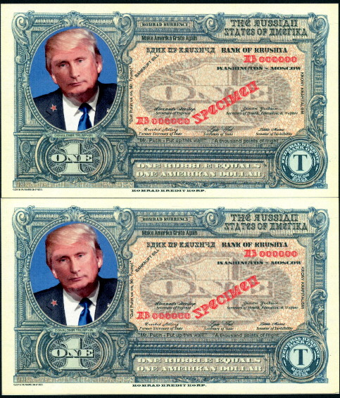 1 rubble = 1 Amerikan dollar  (90) UNC Banknote
