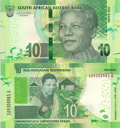 10 rand  (90) UNC Banknote