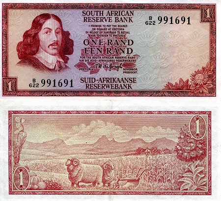 1 rand  (90) UNC Banknote