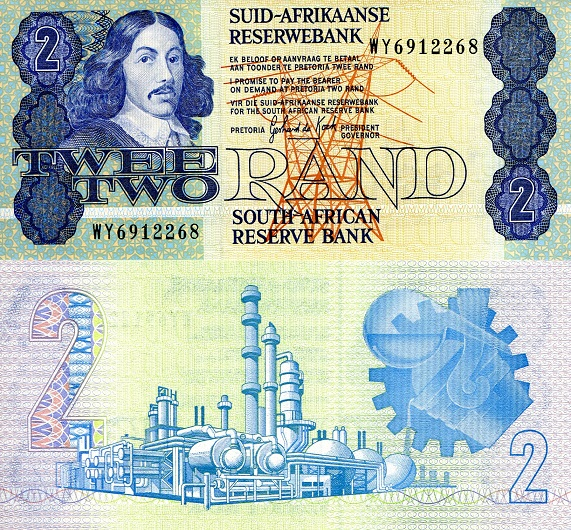 2 rand  (90) UNC Banknote