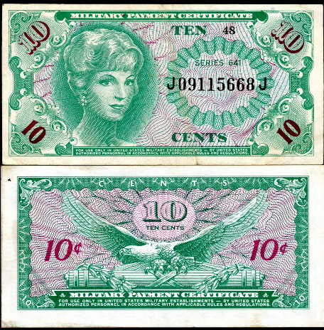 10 cents  (70) EF Banknote