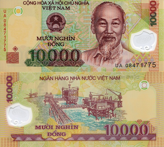 10,000 dong  (90) UNC Banknote