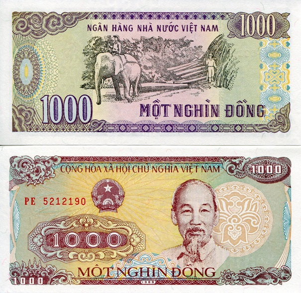 1000 dong  (90) UNC Banknote