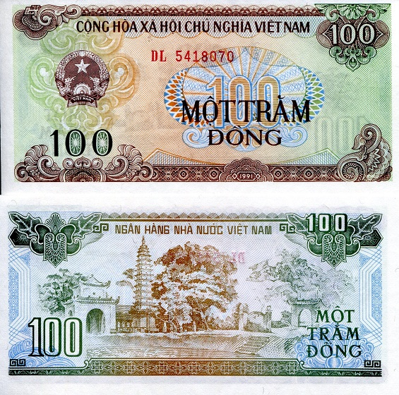 100 dong  (90) UNC Banknote