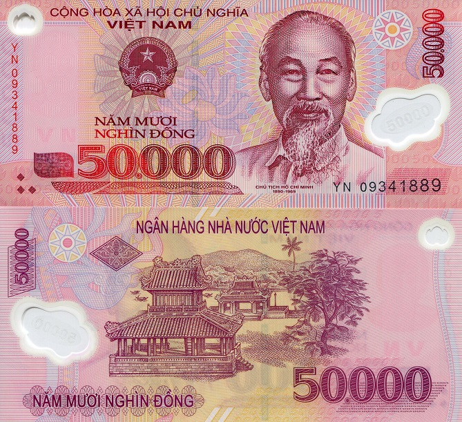 50,000 dong  (90) UNC Banknote