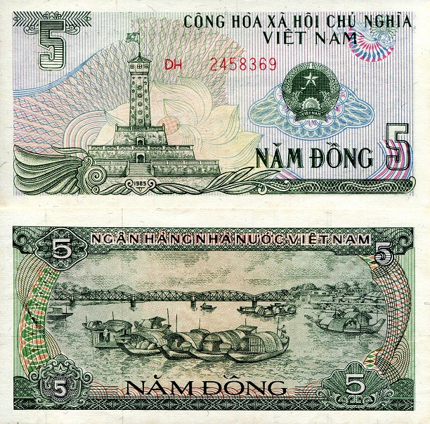 5 dong  (90) UNC Banknote
