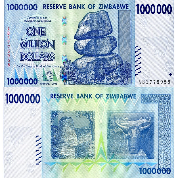 1,000,000 dollars  (50) F Banknote