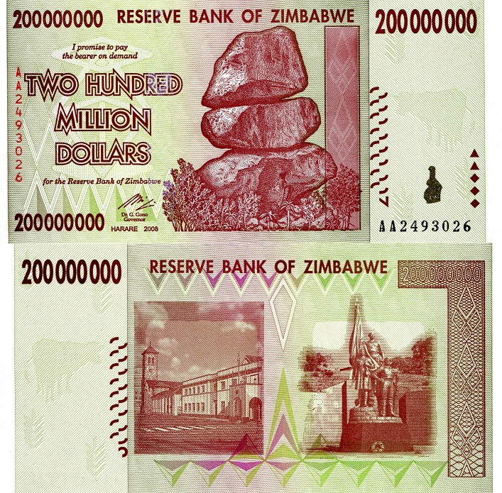 200,000,000 dollars  (50) F Banknote