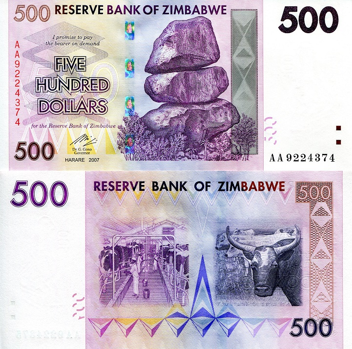 500 dollars  (50) F Banknote